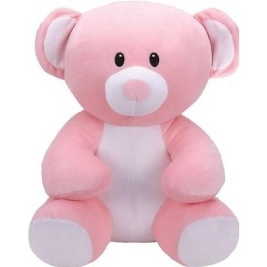 Beren speelgoed artikelen Ty Beanie beer knuffelbeest princess roze 17 cm