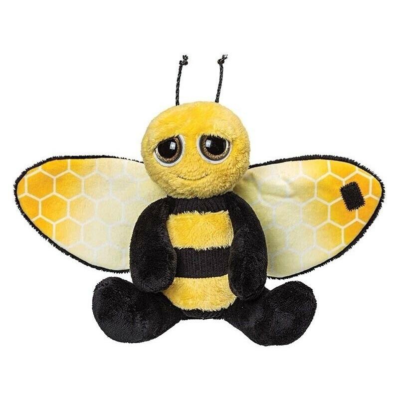 Bijen speelgoed artikelen knuffelbeest geel/zwart 18 cm