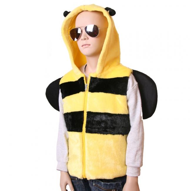 Bijen vestje met capuchon voor kinderen