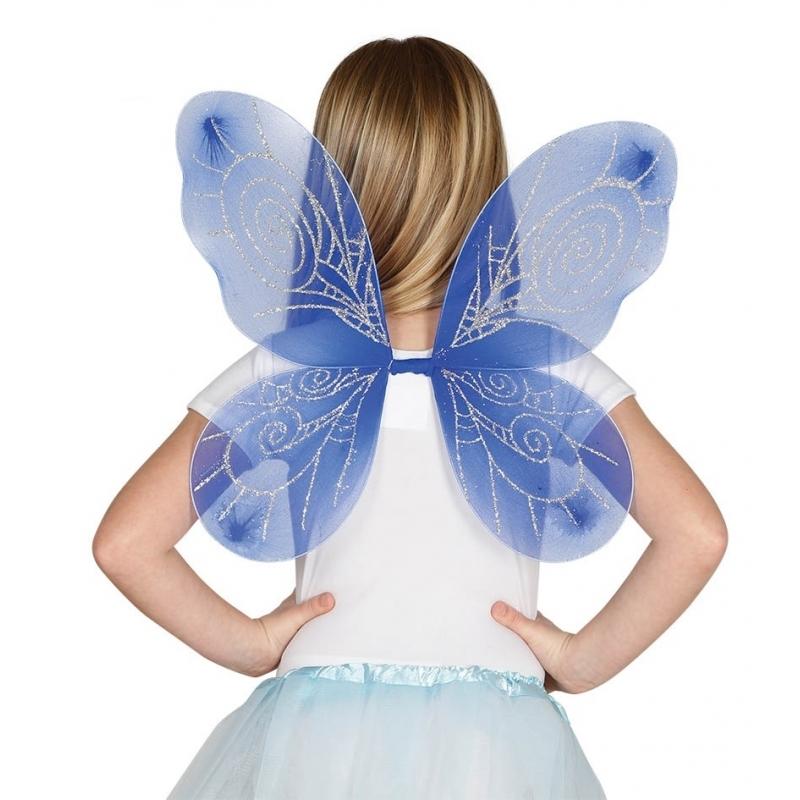 Blauw gekleurde vleugels voor meisjes