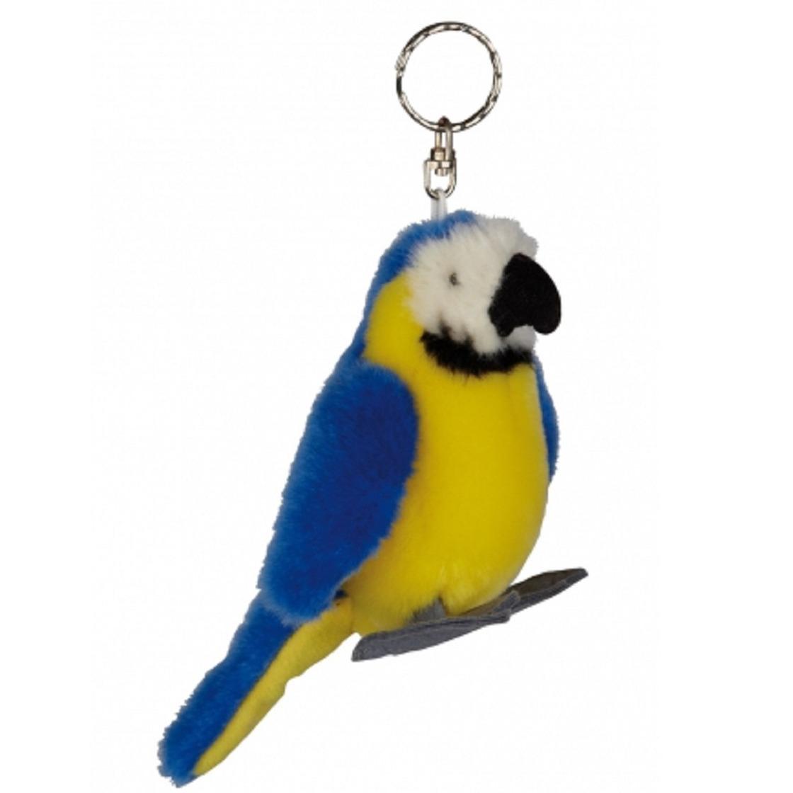 Blauwe Ara Papegaai knuffel sleutelhanger 10 cm