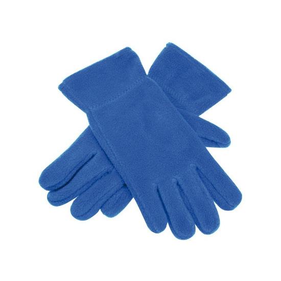 Blauwe fleece handschoenen