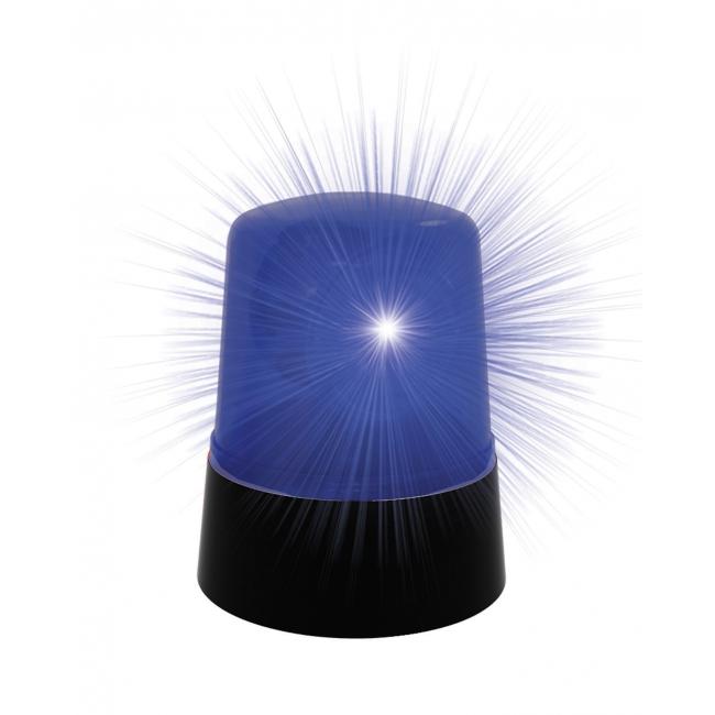 Blauwe lamp voor op politieauto 10 cm