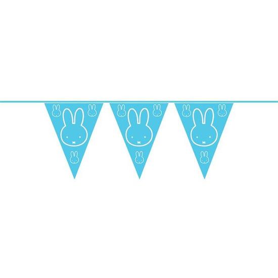 Blauwe Nijntje thema geboorte vlaggenlijnen van 6 meter