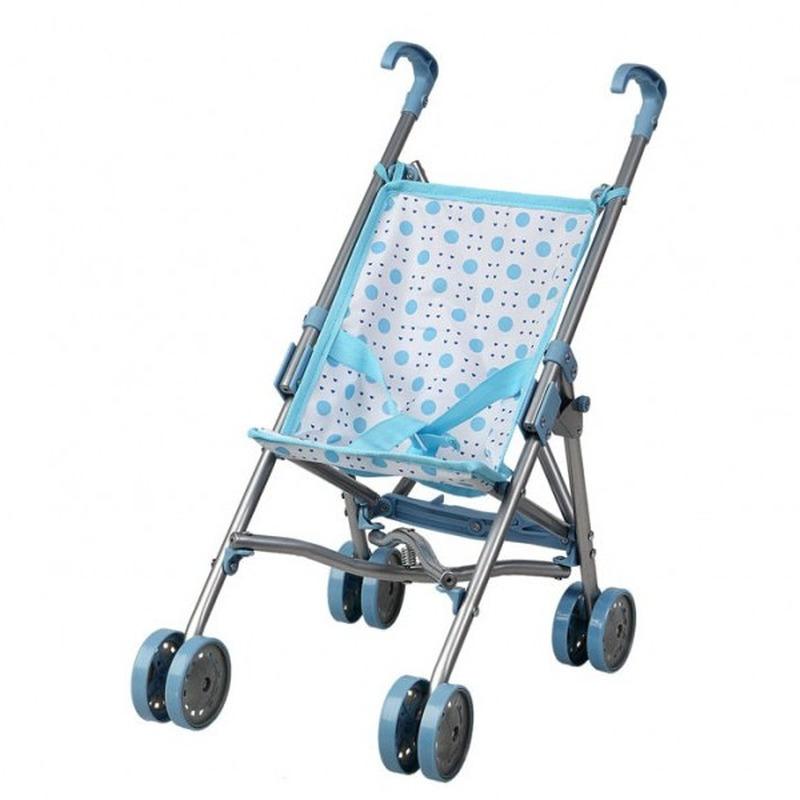 Blauwe poppenwagen speelgoed voor meisjes