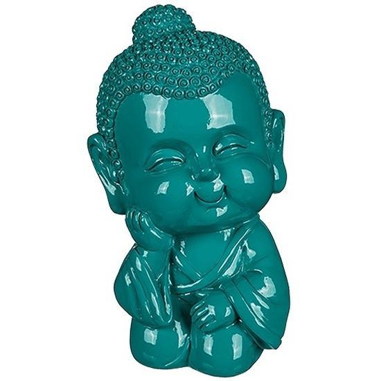 Boeddha spaarpot groen 13 cm
