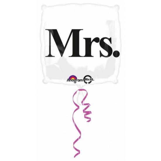 Bruiloft folie ballon Mrs.