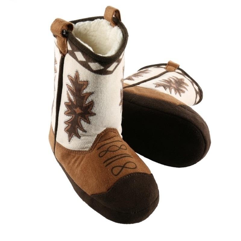 Bruine cowboylaarzen sloffen voor kinderen