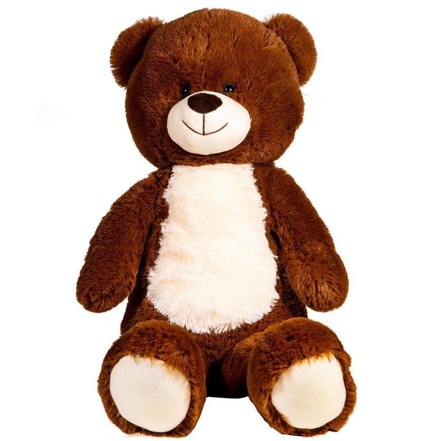 Bruine pluche teddybeer/beren dieren knuffel 80 cm