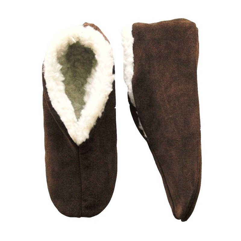 Bruine Spaanse pantoffels gevoerd