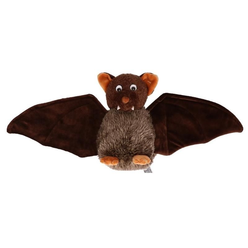 Bruine vleermuis knuffel 18 cm