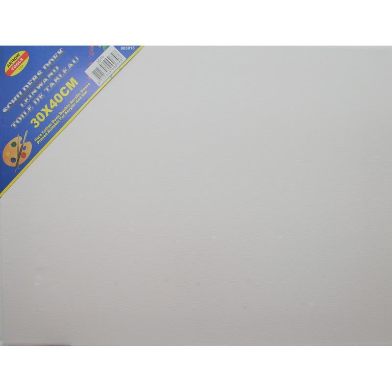 Canvas schilders doek 30 x 40 cm zware kwaliteit
