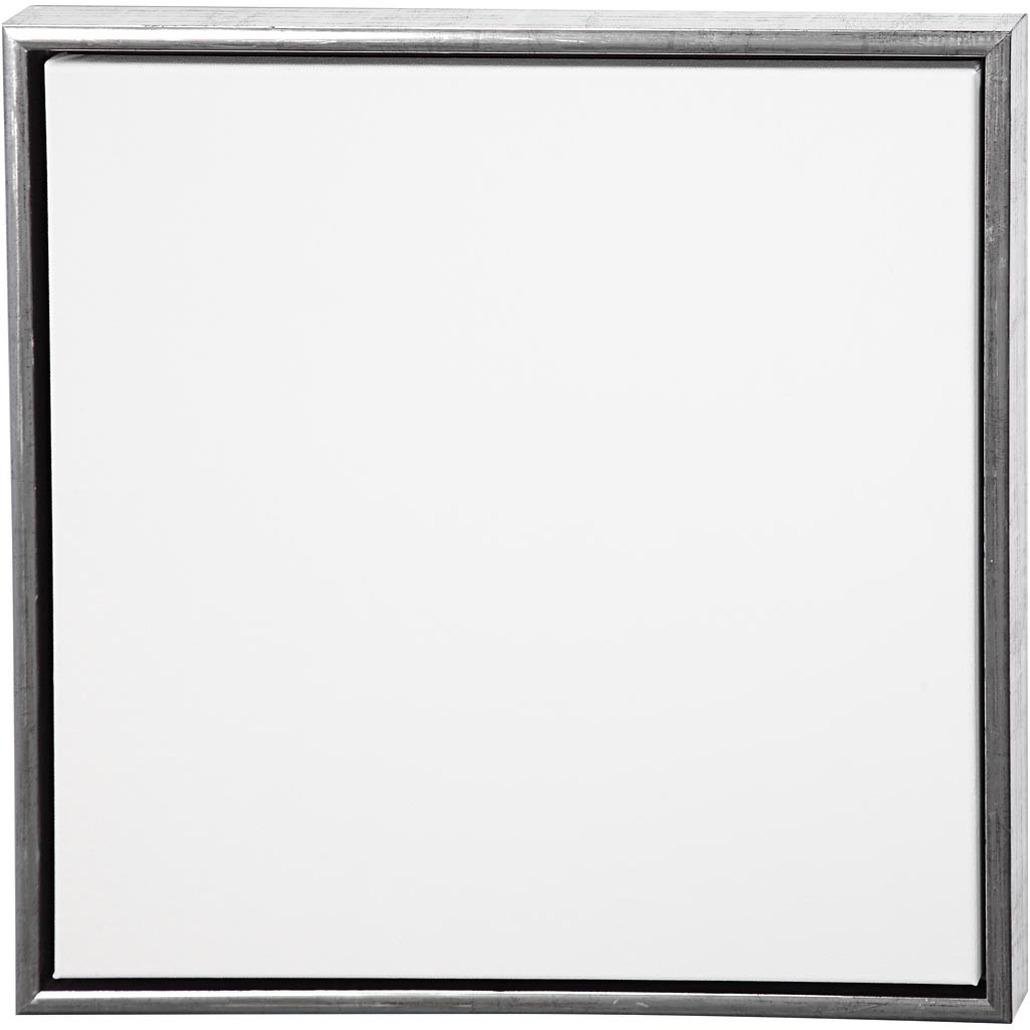 Canvas schildersdoek met lijst zilver 50 x 50 cm
