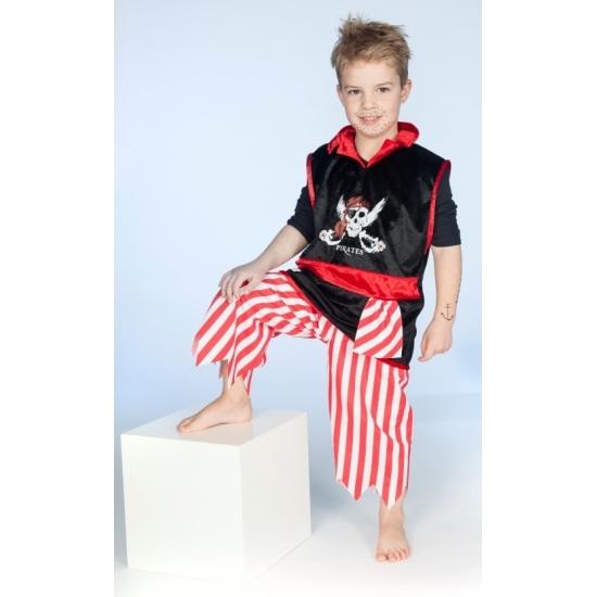 Carnaval piraten kleding voor jongens