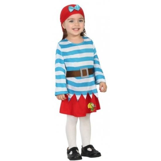 Carnaval piraten kostuum met rok peuters