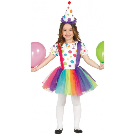 Carnavalskleding clownsjurk voor kinderen