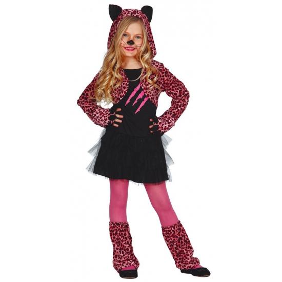 Carnavalskostuum katten jurkje kids