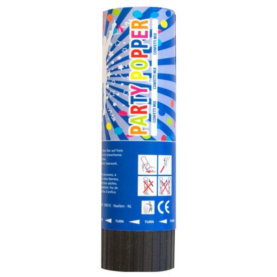Confetti kanon gekleurd 15 cm