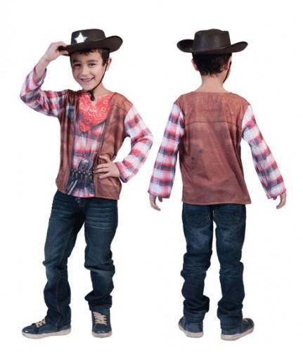 Cowboy t-shirt voor kids