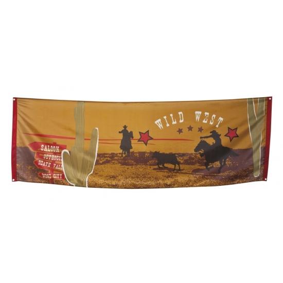 Cowboyfeest thema banner 220 cm