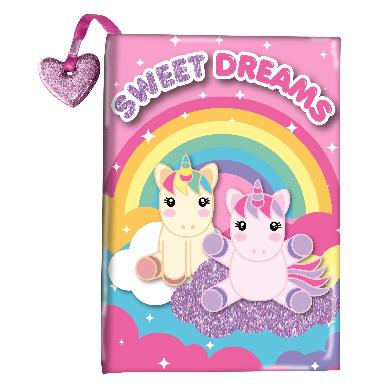 Dagboek Sweet Dreams unicorns/eenhoorns met glitter