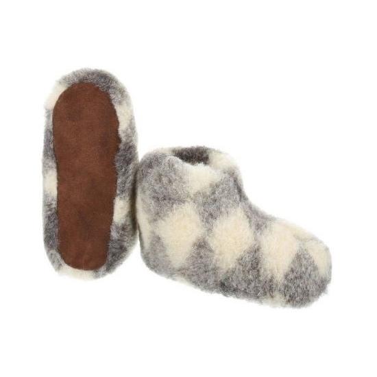 Dames wollen pantoffels ruit