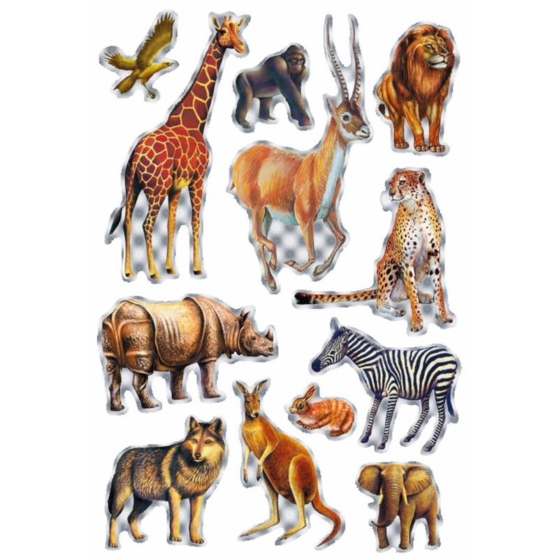 Decoratie afrikaanse diertjes stickers