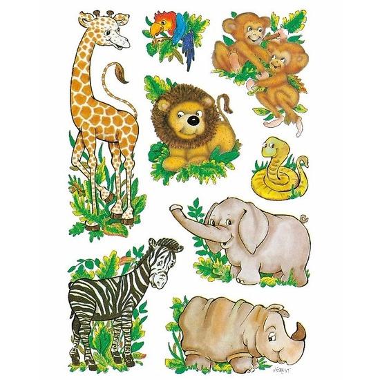 Decoratie dierentuin dieren stickers