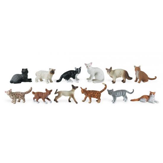 Decoratie katten 11 stuks