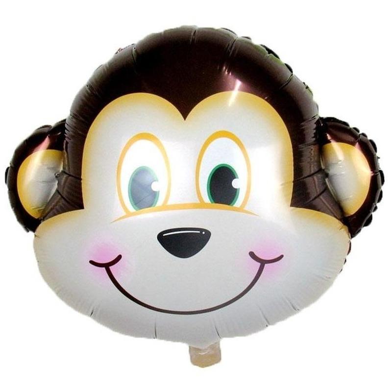 Dieren folieballon aap/apen 34 cm