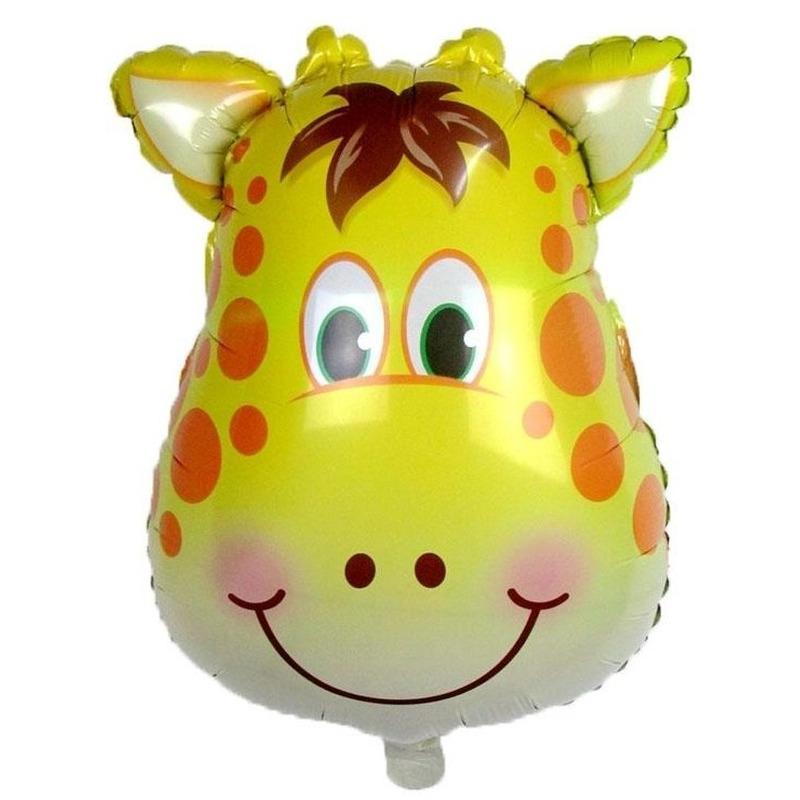 Dieren folieballon giraf/giraffen 42 cm
