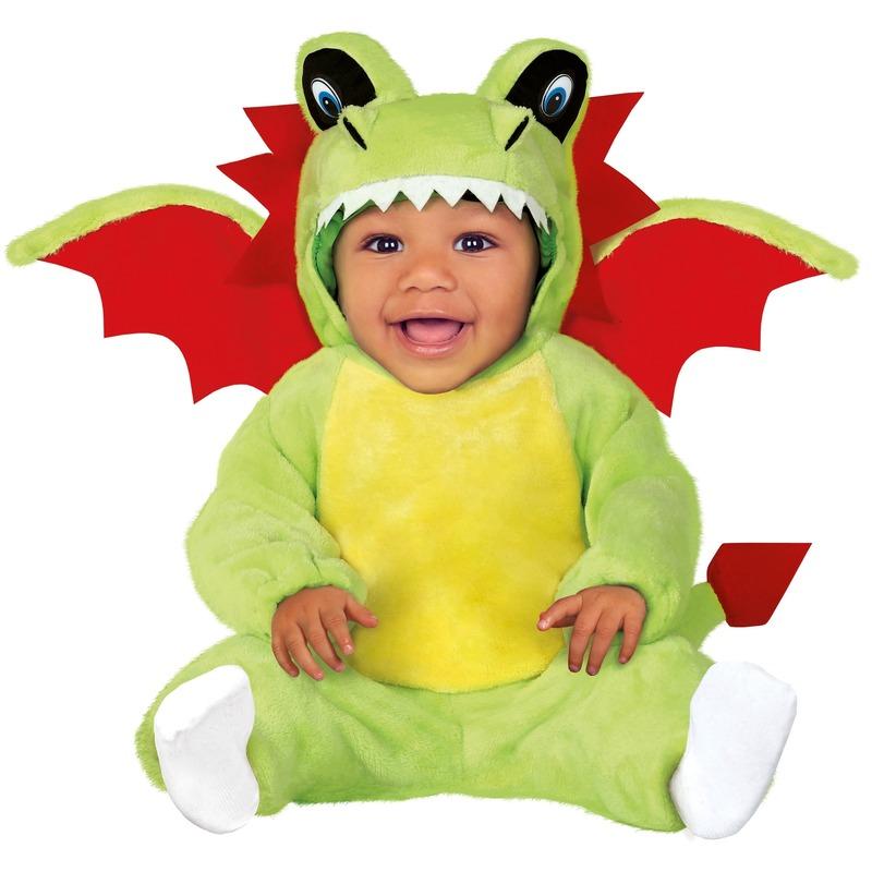 Dierenpak draken verkleed kostuum voor baby/peuter 12-24 mnd