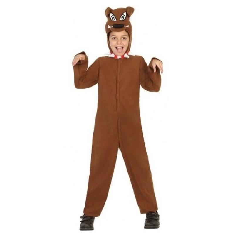 Dierenpak honden verkleed kostuum 'Bull Terrier' voor kinderen