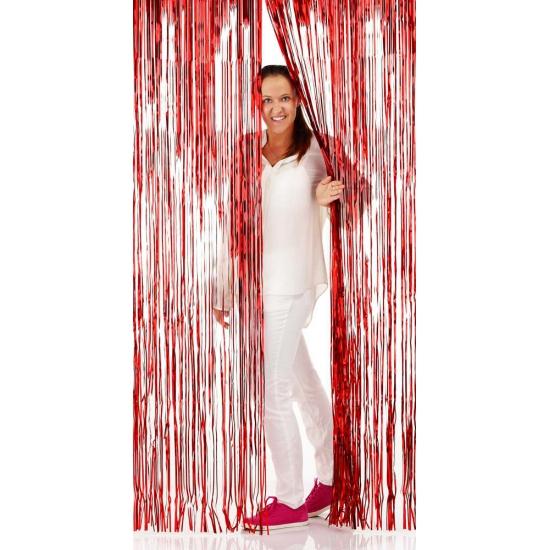 Disco folie deurgordijnen rood