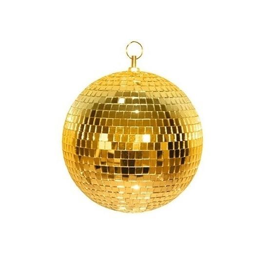 Disco spiegel bal goud 20 cm