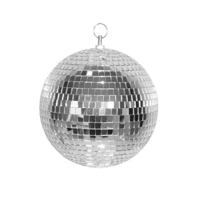 Disco spiegel bal zilver 20 cm