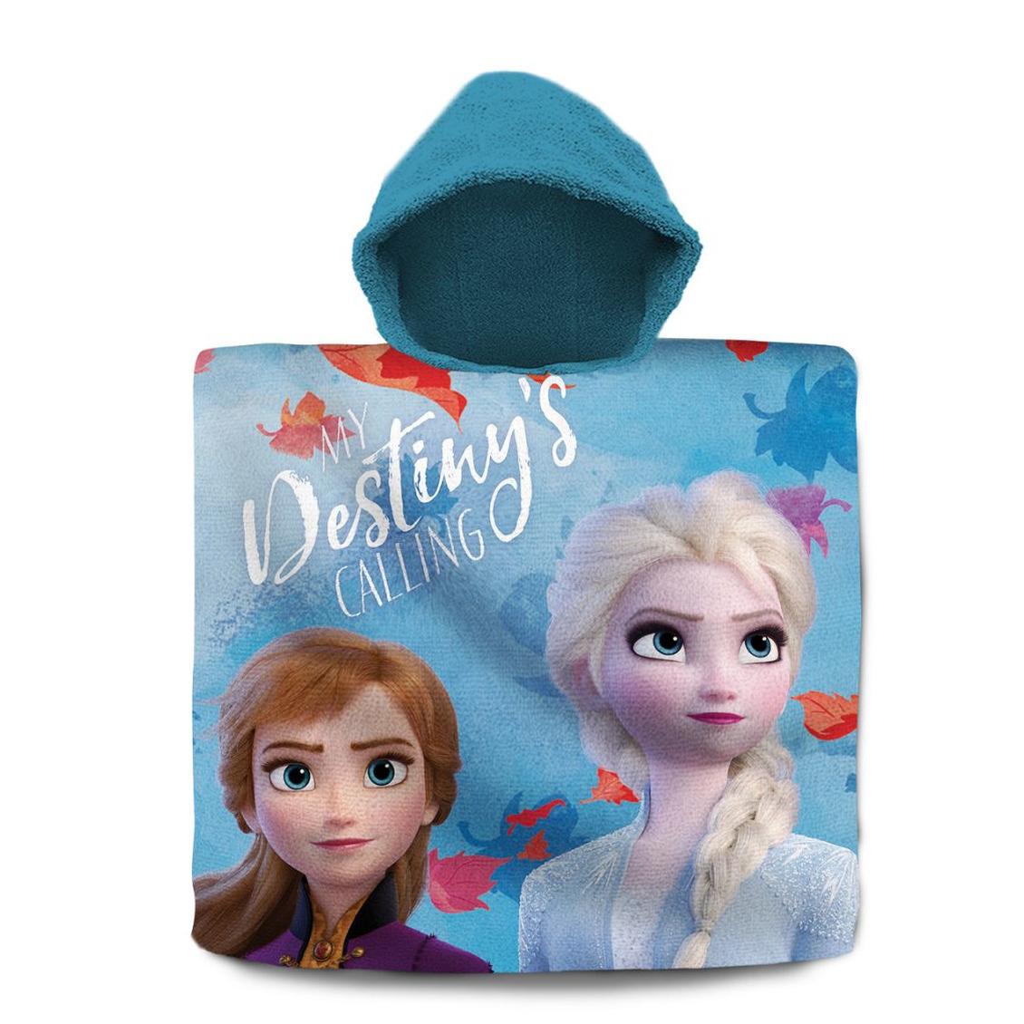 Disney Frozen 2 badcape/poncho met blauwe capuchon voor kinderen