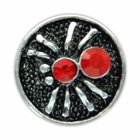 Drukknoop rood spinnetje voor chunk sieraad 1,8 cm