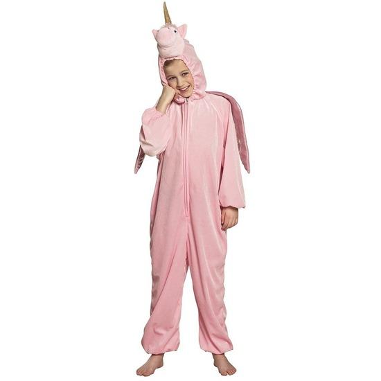 Eenhoorn dieren onesie/kostuum voor kinderen roze