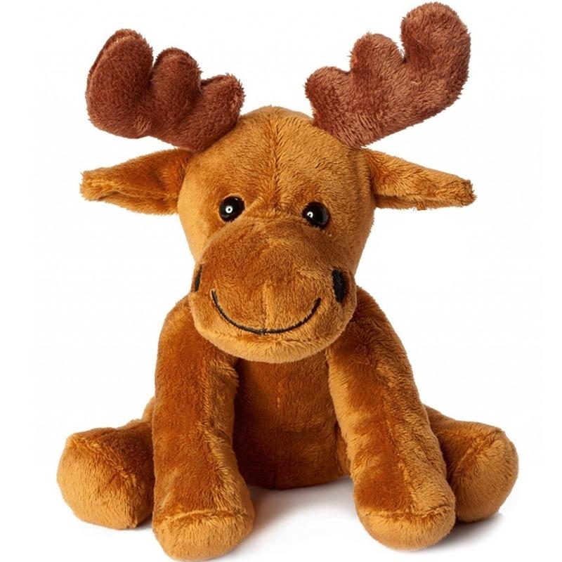 Elanden speelgoed artikelen knuffelbeest bruin 20 cm