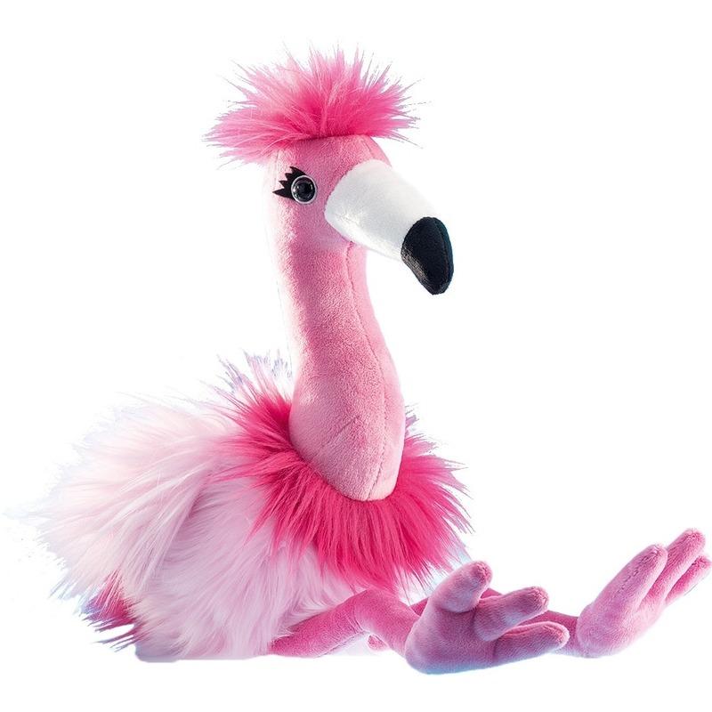Flamingos speelgoed artikelen flamingo knuffelbeest roze 48 cm