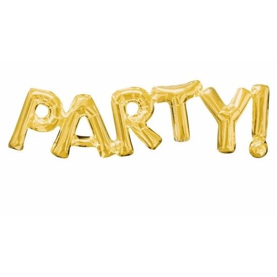 Folie ballon Party goud 83 cm