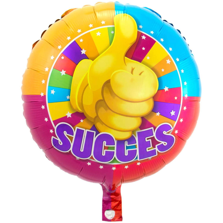 Folie ballon Succes 43 cm met helium gevuld