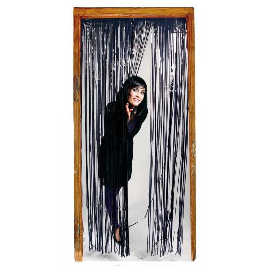 Folie deurgordijn zwarte versiering 200 cm
