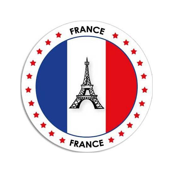 Frankrijk sticker rond 14,8 cm landen decoratie