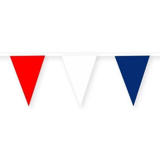 Frankrijk stoffen vlaggenlijn/slinger 10 meter van katoen