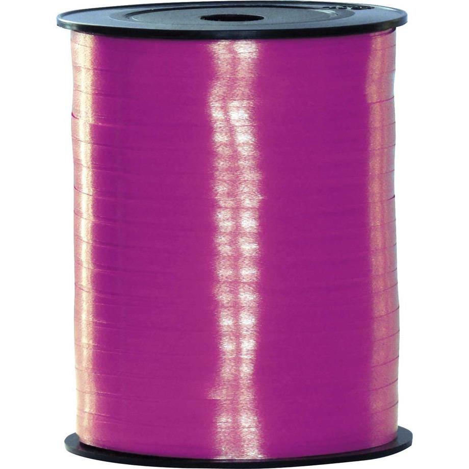 Fuchsia roze lint 500 meter x 5 milimeter breed