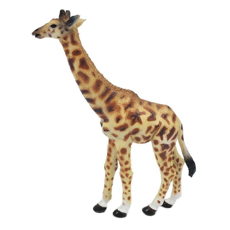 Geel/bruine plastic giraf 15 cm
