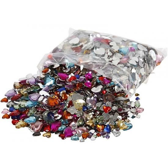 Gekleurde diamanten stenen hart