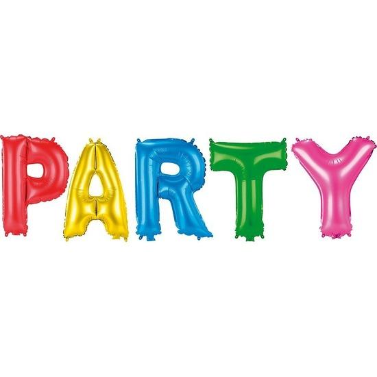 Gekleurde folie ballonnen Party set